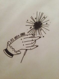 It's just a spark - Paramore tattoo Fucking love this work! I would love to know who created this design! Paramore Tattoo, Lyric Tattoos, Band Tattoo, I Tattoo, Tattoo Music, Paramore Lyrics, Pretty Tattoos, Cool Tattoos, Tattoo Fairy