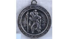 Saint Christopher Protect Us Vintage Sterling by CherishedSaints