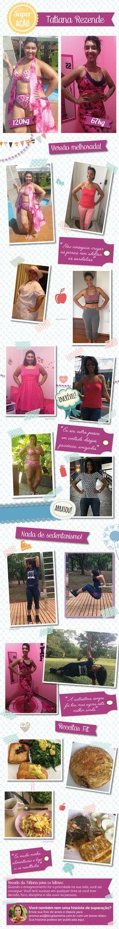 Superação Tatiana Rezende - Blog da Mimis - Mãe revela o seu segredo para emagrecer 53Kg! #emagrecer #dieta #saudável #alimentação #dicas