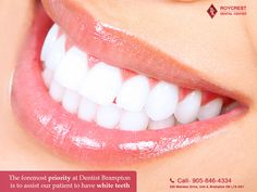 """Our priority at Dentist Brampton is to assist our patients to have white teeth.   #WhiteningInBrampton #bramptondentists  #bestdentistinbrampton #bramptonfamilydentist #Dentistbrampton  #veneers #healthy #smile #surgery #dentaltips #nobraces #odontolove  #estheticdentistry  #identistry #ortodoncia #medical"