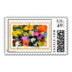 Thank you! Postage Stamps  #floral