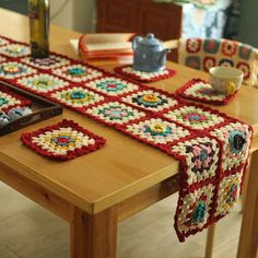 Bring vintage into your kitchen with these handmade crochet table runner and coasters. No skills or loving Grandmothers required!