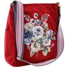 Cathkidstonuse.com                                 Cottage Rose Velvet Washed Messenger Bag