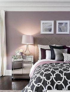 Looking for purple bedroom ideas? It's good, but a purple bedroom will be better when combined with other colors: white, blue and so on, as described here. Purple Bedrooms, Bedroom Colors, Burgundy Bedroom, Violet Bedroom Walls, Purple Bedroom Paint, Bedroom Neutral, Grey Bedroom Furniture, Bedroom Decor, Bedroom Ideas
