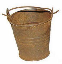 rusty pail