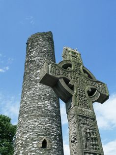 West High Cross and 10th Century Tower, Monasterboice, County Louth, Leinster, Republic of Ireland    by Nedra Westwater Item #:  2671586