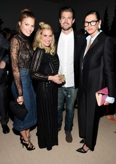 Jenna Lyons Photos Photos - (L-R) Cameron Russell, Emily Baldwin, Matt Baldwin, and Jenna Lyons attend the 12th annual CFDA/Vogue Fashion Fund Awards at Spring Studios on November 2, 2015 in New York City. - 12th Annual CFDA/Vogue Fashion Fund Awards - Inside