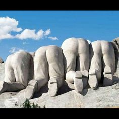 Mount Rushmore from the back
