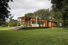 Nestled amongst the trees on Barrier Island, New Zealand is this sustainably built home by Crosson, Clarke, Carnachan.