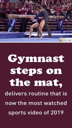 Illustrations Discover Gymnast steps on the mat, delivers routine that is now the most watched sports video of 2019 This routine is simply stunning. Gymnastics Routines, Cheer Dance Routines, Katelyn Ohashi, Young Gymnast, Cool Dance Moves, Sports Clips, Easy Food To Make, High Energy, Musical