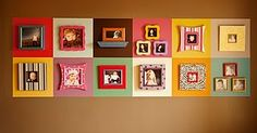 Don't have fun shaped frames, but this could be REALLY cute in the playroom! Maybe with cousin pics? Or just kiddos.