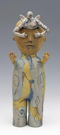 ceramic figure angel by Sara Swink