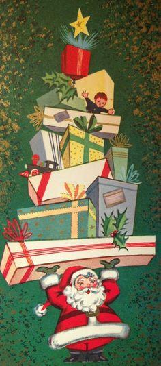 Vintage Christmas Santa Card