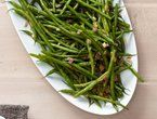 """Blanched Green Beans with Roasted Onions and Peppers. Serve with Caramelized onions and Lemon chicken, both pins available on my """"Recipes to try"""" board"""