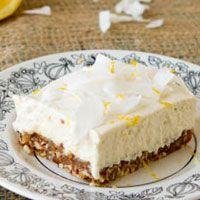 No bake Lemon Cashew Squares - great site for vegan, gluten free and clean eating recipes.