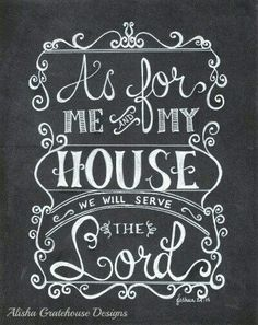 As for me and my house we will continue to serve the Lord. For we will continue to dig deep, and lay our faith upon Jesus Christ the Word of God. For we know if we do this, when the enemy comes in like a flood with all kinds of trouble to try and knock us down or destroy us he wouldn't beable to. Because our house - our temples - our bodies will be well established and grounded on the Word of God, the Truth which is in Jesus Christ Our Lord, that sets us free from all evil. ~ It's through…