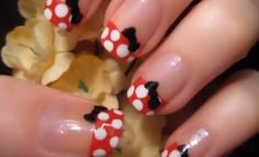 minnie mouse nails...i'm gonna try these for disneyland this weekend