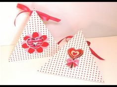How To Make A Triangle Shaped Gift Box (Valentine's Day and other occasions) - YouTube