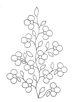 Floral Pattern for Beading or Embroidery Hand Embroidery Flowers, Paper Embroidery, Hand Embroidery Patterns, Cross Stitch Embroidery, Paper Quilling Patterns, Painting Templates, Beadwork Designs, Hawaiian Quilts, Painted Flower Pots