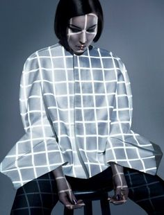 Noomi Rapace wears Rick Owens & Maison Martin Margiela for Dazed and Confused June 2012 by Solve Sundsbo. Geometric Patterns, Projector Photography, Noomi Rapace, Mode Lookbook, Big Fashion, Fashion Design, Fashion Ideas, Ladies Fashion, Fashion Shoot
