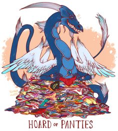 Amusing Illustrations Featuring Dragons and Their Unusual Hoards