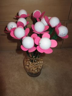 3 available! Golf Ball Bouquet by SmilingBullCreations on Etsy, $30.00