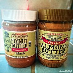 Ok let's settle this!!  Peanut Butter...or Almond Butter??  You might be able to tell from all my smoothie posts what my favorite is, but what do YOU prefer?? CLICK the pin to cast your vote! #nutbutter #almondbutter #peanutbutter #nom