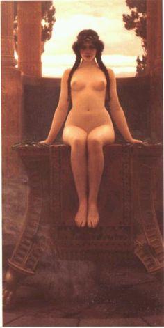 Priestess of the Oracle of Delphi over the sulfur pit.   #priestess http://bhaktiiyata.com/  Priestess Path to Self Mastery