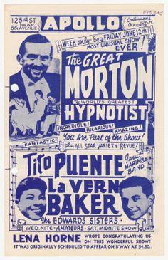 1953 Flyer for New York City's Apollo Theatre