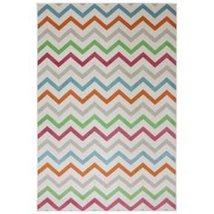 Indoor/Outdoor Bright Beams Multi Rug (5'3 x 7'6) | Overstock.com Shopping - Great Deals on 5x8 - 6x9 Rugs