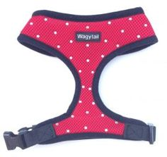 £14.50 RED WAGYTAILS DIAMANTE DOG HARNESS
