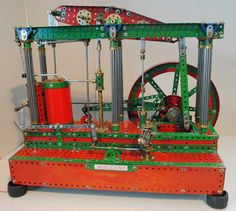 Side view of beam engine