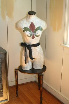 Dress Form Mannequin Fleur de Lis with by thewhiterabbitstudio, $240.00