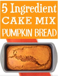 Pumpkin Bread Recipe Moist Easy Cake Mixes! Fall desserts for a crowd are great for Thanksgiving parties! Cake Mixes, Cake Mix Recipes, Dessert Recipes, Spring Desserts, Desserts For A Crowd, Delicious Breakfast Recipes, Delicious Desserts, 5 Ingredient Desserts, Thanksgiving Parties