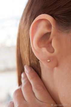 Tiny Ball Earrings, Gold Ball Earrings , Gold Stud Earrings, Second Hole Earrings, Second Ear Pi Second Hole Earrings, Tiny Stud Earrings, Simple Earrings, Sterling Silver Earrings Studs, Gold Earrings, Ear Earrings, Ear Piercing Studs, Ear Piercings, Dainty Jewelry