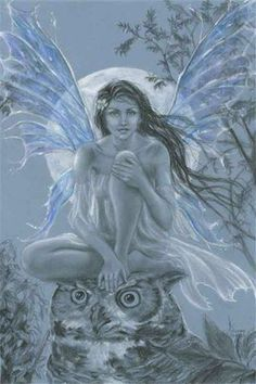 images of moon fairies with blue eyes | Punto Croce: Fate 2 - Blue moon fairy