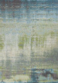 Illusions Escape Blue/Green Area Rug
