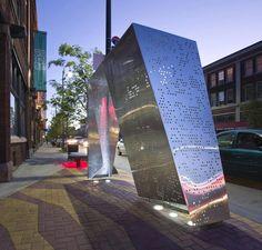 Gordon Square Bus Shelter, Cleveland, OH, by Robert Maschke Architects Inc. Abribus.