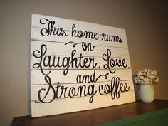 Handmade reclaimed wood sign! Perfect sign for DIY coffee bars and kitchens everywhere!
