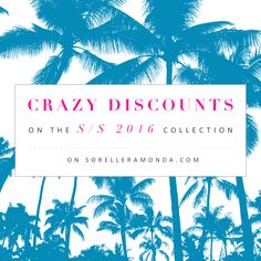 We want to welcome the summer with a surprise: CRAZY DISCOUNTS ON S/S 2016 COLLECTION! Hurry up, you haven't much time! #shoppingonline #shoppingtime #shoppingaddict #fashion #fashionable #fashioninspiration #fashionblogger
