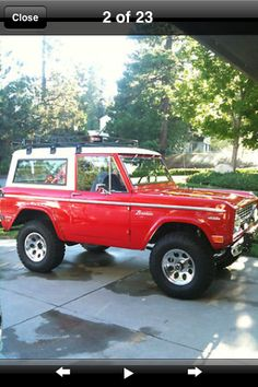 1968 Ford Bronco want one of these!!!