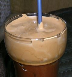 Greek Frappe Recipe  In a shaker or blender mix together 5 Tbs water, 1.5 tsp nestle frappe coffee and sugar to taste.  Shake contents for about 30 seconds or blend for about 10 seconds. The result should be simply foam.  Pour into tall glass and add the ice cubes. Add remaining water and milk to taste. Put in a straw. Milk and sugar are according to taste. It is not obligatory to add them.