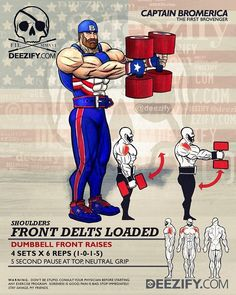 Captain Bromerica hopes you enjoy your #MemorialDay  Building those Shoulders... one boulder at a time #Merica  Stay Savage, my friends  .  Captain America always had his Bro's back .  LIKE  & TAG your SAVAGE BRO  .