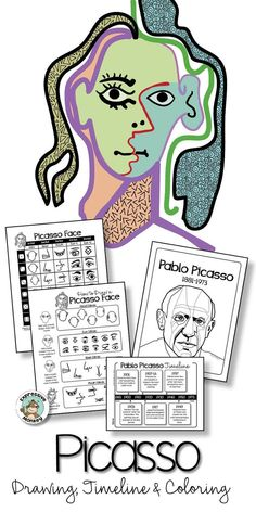 This fun Picasso art project for kids will make it difficult to hold back the giggles! Children love all the possibilities and you'll love how easy it will be to plan this abstract portrait drawing lesson! Pablo Picasso, Art Picasso, Art Lessons For Kids, Art Activities For Kids, Art Lessons Elementary, Art For Kids, Portrait Picasso, Abstract Portrait, Abstract Art