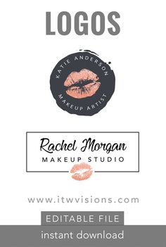 EASY to use editable logos. Initials logo, fancy logo, Branding kit, branding package. This Premade Branding Kit would be perfect for photographers, event planners, wedding venues, interior designers, stylists, boutiques, make-up artists and other.These logos are an instant download of an editable//makeup artist logo //lipsense distributor logo// lip sense business logo//logo with lips//makeup artist graphic..Logo Branding Kit, Mini branding kit, Logo design, Premade logo, Watermark logo