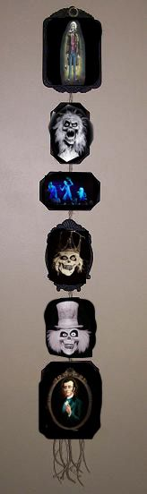There are pictures of the Haunted Mansion ghosts all over the internet. Print out photos, frame them or glue them onto small wood plaques and hang them on the wall for a Haunted Mansion Photo Collection for your Halloween Party.
