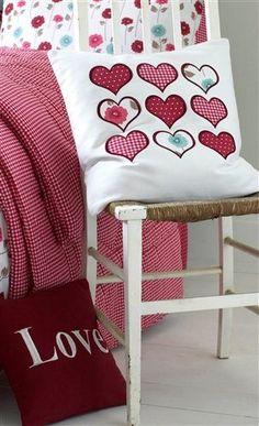 Kirstie Allsopp Heart Applique Cushion