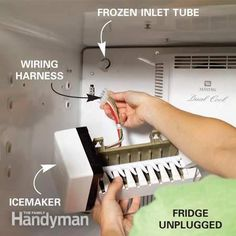 How to Repair a Refrigerator's ice machine