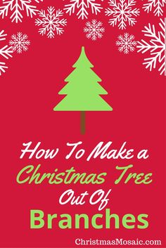 If you have access to fallen tree branches, a tutorial about how to make a Christmas tree out of branches might be right up your alley. Christmas Mosaics, Christmas Tree, Fallen Tree, Autumn Trees, Holidays And Events, Tree Branches, Christmas Decorations, Magic, How To Make