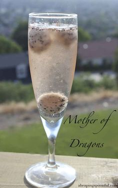 "The ""Mother Of Dragons"" champagne cocktail."